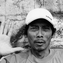 Man Shows Palm @ Indonesia