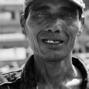 Man Wearing A Worn Cap @ Indonesia