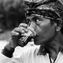 Man Drinking Coffee @ Indonesia