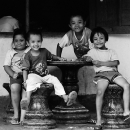 Kids Around A Table @ Indonesia