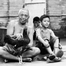 Old Man And A Boy With A Chicken @ Indonesia