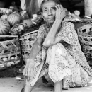 Shoeless Woman In The Market @ Indonesia