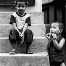 Boy Staying Motionless And Restless Boy @ Nepal