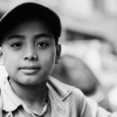 Boy Wearing A Cap And A Necklace @ Nepal