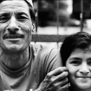 Father Wearing A Dhaka Topi And His Daughter @ Nepal