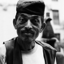 Man Wearing A Bhadgaunle Topi Stares @ Nepal
