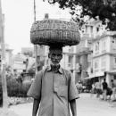 Look Of Amazement And A Big Basket On The Head @ Nepal