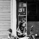 Siblings Around The Motorbike @ Nepal