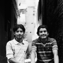 Two Young Men In The Lane