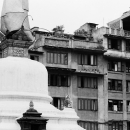 Stupa And Apartment