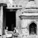 Small Shrine And Girls @ Nepal