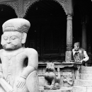 Man Behind The Statue @ Nepal