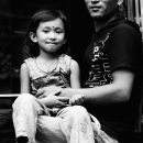 Daughter On Father's Knee @ Nepal