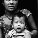 Portrait Of Mother And Her Baby @ Nepal