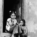 Two Girls At The Door @ Nepal