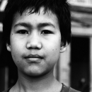 Face Of A Tibetan Boy