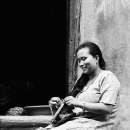 Woman Was Knitting @ Nepal