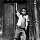 Boy In Front Of The Door @ Nepal