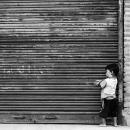Boy In Front Of The Shutter @ Nepal