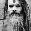 Sadhu With White Face