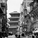 Basantapur Tower At The End Of The Street @ Nepal