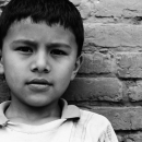 Boy By The Brick Wall @ Nepal