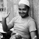 Man Wearing A White Cap @ Bangladesh