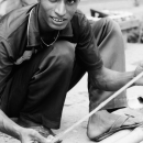 Man Holding A Measuring Rod @ Bangladesh