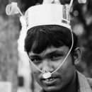 Man Wearing A Cap With Party Horns @ Bangladesh
