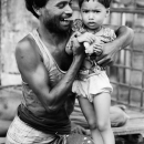 Smiling Father And His Suspisious Kid @ Bangladesh