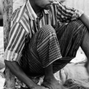 Man Sitting By The Roadside @ Bangladesh