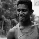 Shy Man Wearing A Tank Top @ Bangladesh