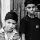 Two Boys In Front Of A Maintenance Shop @ Bangladesh