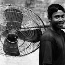 Man Carryig A Big Fan @ Bangladesh