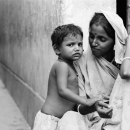 Mother And Her Kid By The Wayside @ Bangladesh