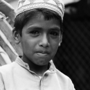 Boy On The Seat Of A Cycle Rickshaw