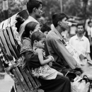 Family On The Cycle Rickshaw @ Bangladesh