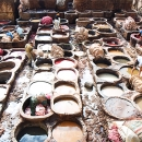 Many Tanning Pits In Tanneries @ Morocco