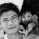 Father And His Bashful Daughter @ Myanmar