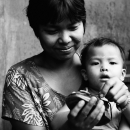 Baby In The Mother's Arm @ Myanmar