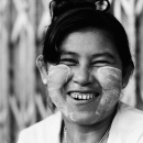 Happy-looking Woman @ Myanmar
