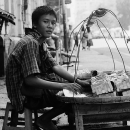 Hawker Selling Strawberries @ Myanmar