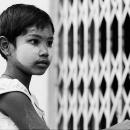 Little Girl Whose Cheek Is White @ Myanmar