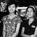 Two Girls In A Bicycle Shop @ Myanmar