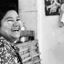 Woman Giving A Peal Of Laughter @ Myanmar