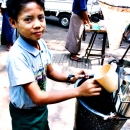 Boy Selling Drinking Water @ Myanmar