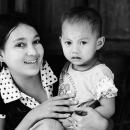 Little Boy And His Mother @ Myanmar