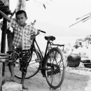 Boy In Front Of A Bicycle @ Myanmar