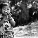 Boy Holding A Spoon @ Myanmar