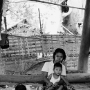 Mother And Her Son Under The Floor @ Myanmar